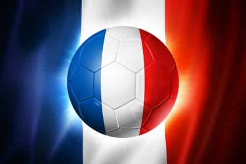 3D soccer ball with France team flag, world football cup Brazil 2014